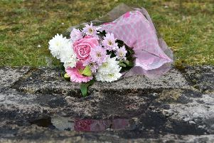 Flowers left at the Greenvale Hotel in Cookstown