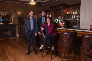 Owners of local family-business Corick House: Haldene McCleary; Andrew Beacom; and Avril Robson