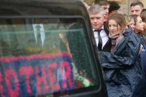 The funeral of Morgan Barnard (17) who, along with Lauren Bullock (17) and Conor Currie (16) tragically died at the Greenvale Hotel in March. (Photo: Presseye)