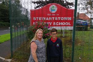 Spanish pupil is a 'big hit' with fellow classmates in Stewartstown