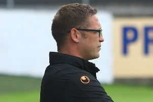 Dungannon Swifts manager Kris Lindsay.