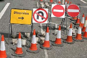 Road works diversion