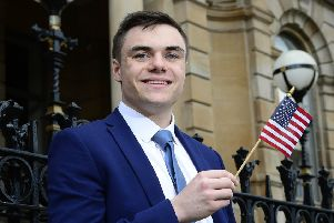"""Queen�""""s University Belfast student Kevin Toner has been named  Study USA student of the year. Kevin, who currently studies Computer Science, was among 50 students from Northern Ireland to successfully graduate from the programme and was honoured at a graduation ceremony at the Harbour Commissioner�""""s Office, Belfast recently. Study USA, which enables Northern Ireland students to study business and now STEM in the US for a year, is managed by British Council Northern Ireland on behalf of the Department for the Economy. Students can apply now for Study USA 2020-2021 and can find out more at http://nireland.britishcouncil.org, Follow on Twitter: BCouncil_NI or Facebook: www.facebook.com/britishcouncilnorthernireland."""