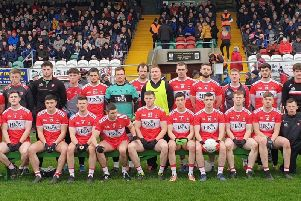 The Derry team that lined out in Inniskeen against Monaghan on Sunday.