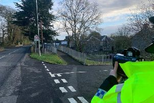 Police operating a speed check in the Magherafelt area.  Picture: PSNI