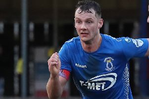 Seanan Clucas - pictured on duty for Dungannon Swifts - has signed for Glentoran. Pic by Pacemaker