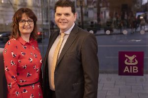 Terrie Agnew, branch manager Dungannon, and Tommy Traynor, Mid Ulster and Fermanagh Business Centre Manager