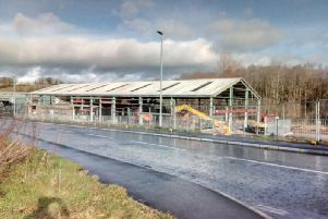 Demolition is taking place at the former Forbes furniture store in Magherafelt.