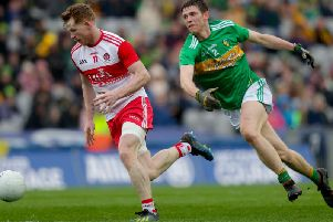 Derry manager Rory Gallagher has confirmed he expects to have Enda Lynn back in time for the Ulster Championship clash with Armagh in May.