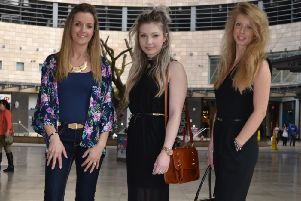 Midsummer Place Shopping Centre's Street Style finalists Hannah Boozer, Hollie Dunn and Rachel Skinn
