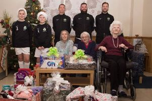 Newport Pagnell Football Club spreads festive cheer in the town