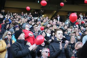 A record crowd was at Stadium MK on Saturday. Pic: Lee Scriven