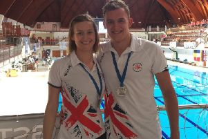 Billy Sarsfield with Dunstable team-mate Claire Wiltshire