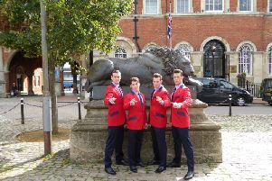 The Jersey Boys during their last visit to Aylesbury. Picture copyright Heather Jan Brunt