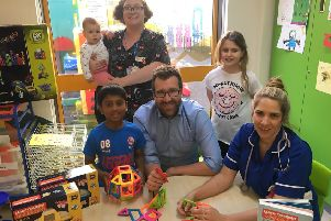 Toys are donated to MK Hospital children' s ward