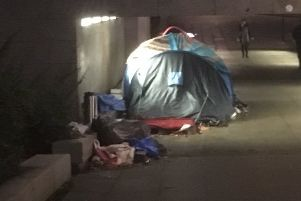 Tents set up in underpasses are a common site in Milton Keynes