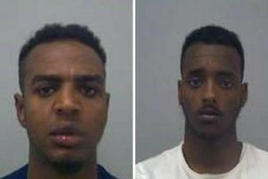 Adan Dahir (left) and Liiban Makail have both been sentenced to jail time