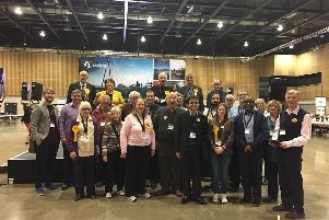 The Liberal Democrats, pictured at last Friday's election count, have outlined their terms
