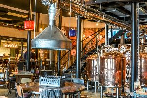 The microbrewery is a wonderful centrepiece at Brewhouse and Kitchen