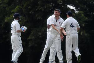 Milton Keynes celebrate a wicket against New Bradwell