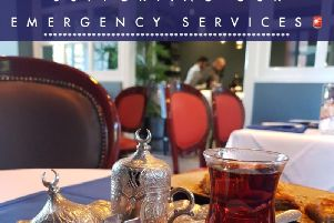 A Turkish restaurant in Bletchley is offering a warming Turkish Tea treat to anybody who works for the emergency services