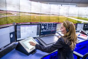 Cranfield Airport's new Digital Air Traffic Control Centre today officially opened by the Aviation Minister, Liz Sugg