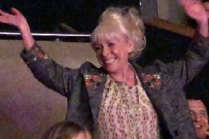 Barbara Windsor receives a standing ovation at MK Theatre