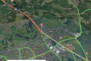 Live traffic showing gridlock on the M1 at Milton Keynes