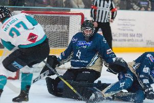 MK Lightning beaten by Belfast Giants | Pic: Tony Sargent