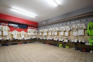 MK Dons dressing room at Rodney Parade