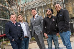 Pictured left to right: Jason Thorne, Shelim Ruhul, Leigh Strathearn, Shamim Shanoor and Mo Abdul.