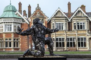 """THE D-DAY STORY UNVEILS'��D-DAY: SOLDIERS OF SACRIFICE�"""" SCULPTURE'TO MARK D-DAY 75 ANNIVERSARY YEAR'⬢ Knife Angel creator Alfie Bradley commissioned to immortalise servicemen who lost'their lives on D-Day'⬢ 4,413 bullets incorporated into the build �' plus the likeness of one serviceman �' to'represent fallen allied soldiers during landings'⬢ The National Lottery Heritage Funded sculpture will be on tour visiting the UK and'France over the next week'The UK�""""s only D-Day museum, The D-Day Story, has unveiled a poignant sculpture commissioned'by renowned artist Alfie Bradley, to mark the historic D-Day 75 anniversary year. The sculpture,'named ��D-Day: Soldiers of Sacrifice�"""", has been created in tribute to the 4,414 Allied servicemen'who lost their lives on D-Day, the first day of the Allied Invasion of Normandy. It is set to embark'across the UK to Normandy in France on a special, one-off tour starting today before taking up'residence in Portsmouth in time for the official commemorations in June"""
