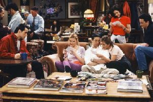 A scene in Central Perk from the hit TV show