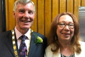 Mayor Sam Crooks with the Mayoress Isabelle Musnik