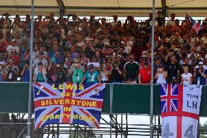 Huge crowds are expected to cheer on championship leader Lewis Hamilton at Silverstone this weekend
