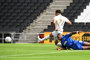 Sam Nombe fires MK Dons into the lead