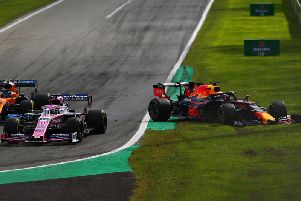 Max Verstappen suffered a first corner accident for the second race in a week