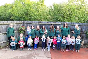 From left: Bodhi, Jared, Olivia, Jorin, Dafaa, Sophia, Carys, Lucia, Harry, Rebecca, Bronte, Charlotte, and Georgia