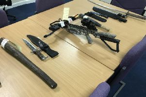 Some of the seized weapons