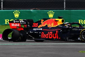 Verstappen suffered a puncture when he clipped Bottas