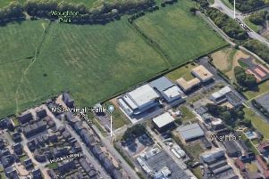 The housing site, with Walton Manor at the bottom of the image
