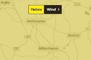 The weather warning is between 3am and 6pm on Thursday
