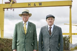 Gilbert and George in Belfast