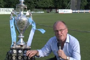 David with the famous NCU Challenge Cup. He had presented his own preview programme on the final for the last two summers.