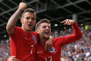 Jack Wilshire, seen here with in England colours with Liverpool's Adam Lallana