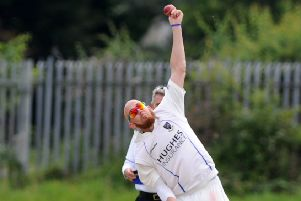 James Cameron-Dow bowling for CIYMS in 2015