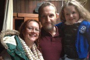 Darcey with mum Emma and Christopher Eccleston.  INCT 13-723-CON