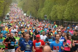 The mass of Marathon runners make their way along Holywood Road during the 2018 Deep RiverRock Belfast City Marathon. ''Picture by Brian Little