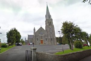 Holy Cross Church in Lisnaskea. Image from Google StreetView