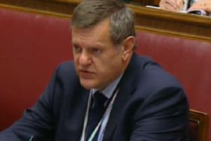 Chris Stewart said that Stormont's budget couldn't cope with the crisis